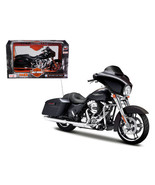 2015 Harley Davidson Street Glide Black 1/12 Motorcycle Model by Maisto - $29.02