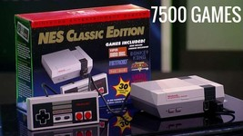 NES Classic Nintendo Entertainment System 7500 Games Modded Hacked  - $325.00