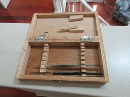 Rx , Pharmacy , Wood Dissecting Kit , Vintage , Incomplete image 3