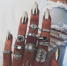 10PCS/Set Vintage Knuckle Ring Set for Women 2019 Fashion Anel Aneis Bague Femme - $9.65