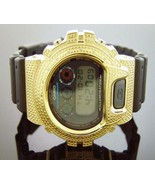Men Casio G Shock 0.15CT Diamonds Black Face Watch 6900 Gold-tone Case - $197.99