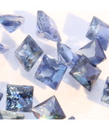 One Blue Sapphire 2.0 mm Princess Cut Square Accent Gemstone Average .05... - $2.38
