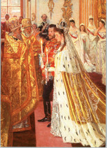 The Wedding Nicholas II and Empress Alexandra Russian Romanov Royalty Po... - $1.75