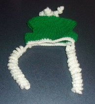 Brand New Crocheted Green White Dog Winter Hat For Cocker Spaniel Rescue... - $8.81
