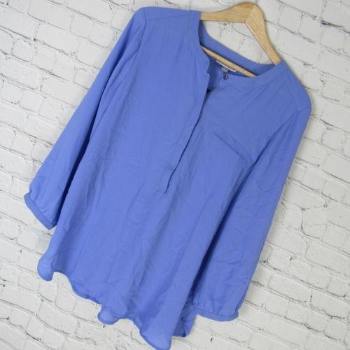 JM Collection Shirt Top Blouse Womens Medium M Purple Lavender MRSP $50 D18