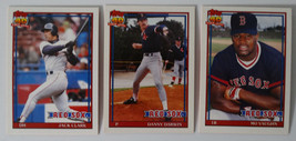 1991 Topps Traded Boston Red Sox Team Set of 3 Baseball Cards - $3.00
