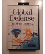 Global Defense  (Sega Master System 1987) Game + case only - $10.74