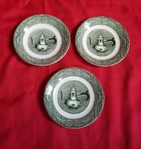 Vtg The Old Curiosity Shop Set x 3 Saucer Plates - $12.86