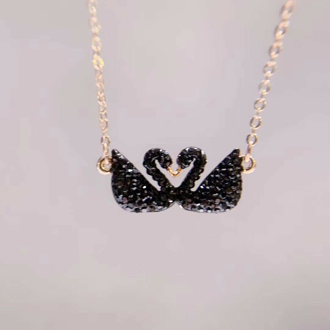 Swarovski ICONIC SWAN Double Swan Necklace pendant jewelry gift image 4