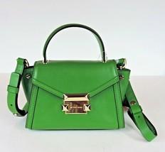 Michael Kors NEW $228 True Green Leather Mini Whitney Crossbody Satchel ... - $117.81