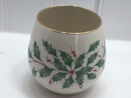 Lenox Porcelain Holiday Holly Votive Candle Holder Say it with Silk 22229 - $13.50