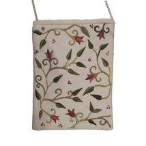 Yair Emanuel Flower Design White Embroidered Bag - $6.68