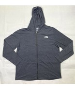 North Face Graphic Full Zip Hoodie Jacket Men's XXL Heathered Gray Blue - $59.40