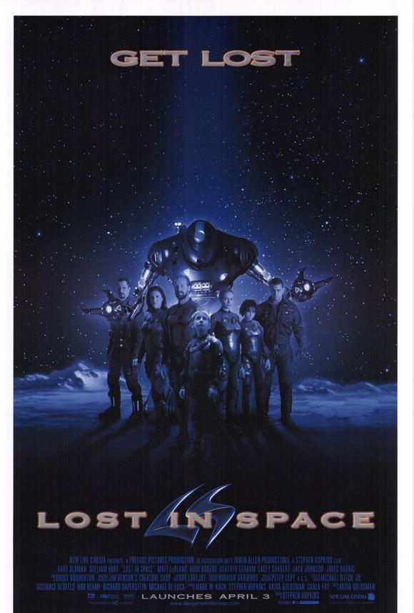 1998 LOST IN SPACE Gary Oldman Motion Picture Movie Promotional Poster 13x20