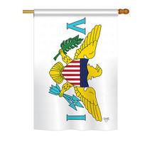 "US Virgin Islands - 28"" x 40"" Impressions House Flag - H108334 - $36.87"