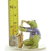 Hagen Renaker Miniature Frog Toadally Brass Band Saxophone Ceramic Figurine image 2