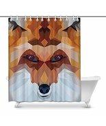 InterestPrint Fox in Mosaic Geometric Triangle Shapes House Decor Shower... - $30.68
