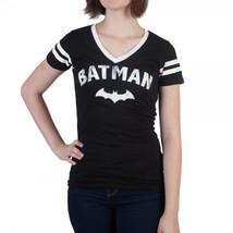 Batman Logo with Bat Varsity V-Neck T-Shirt - $23.88