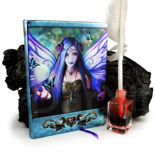 Licensed Anne Stokes Mystic Aura Purple Fairy with Pentagram Embossed Journal image 2