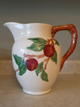 """Beautiful Franciscan Earthenware Apple 64oz, 8.5"""" Tall Pitcher Interpace  1964 - $74.76"""