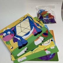 Melissa & Doug Geometric Tangeam Educational Puzzles 10 Puzzles & 47 Pieces - $9.89