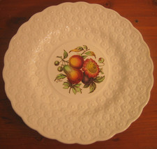 #5 Copeland Spode Luncheon Plate Ring Fruit Bouquet Embossed Daisies Eng... - $28.26