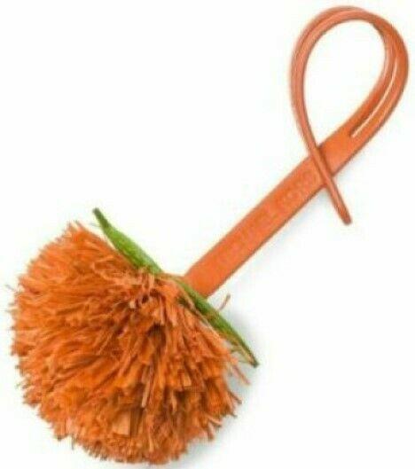 MICHAEL KORS  NWT Novelty Tangerine Pom Pom Purse-Charm  Orange Leather