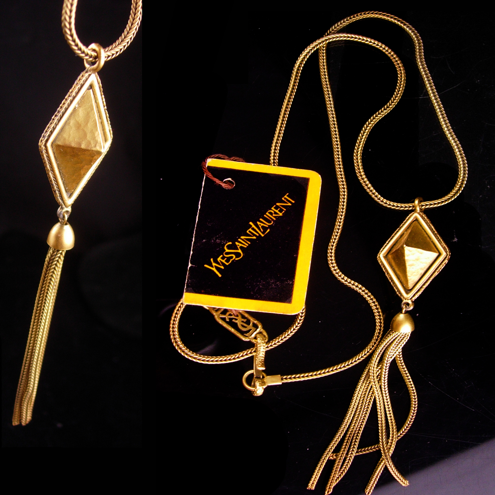 ddd727333b2 Vintage Yves Saint Laurent necklace - French and 42 similar items.  Yvesnecklace7
