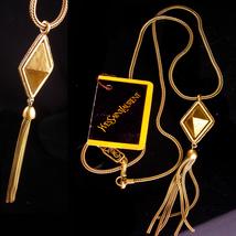 Vintage Yves Saint Laurent necklace - French necklace - original tag - Y... - $875.00
