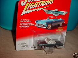 Johnny Lightning 1961 Thunderbird Convertible Blue Charcoal Free Usa Shipping - $11.29