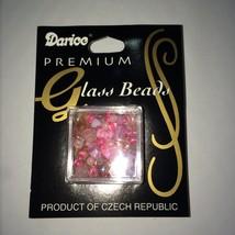 WHOLESALE DARICE 17 GRAMS SMALL ASST PINK CZECH GLASS BEADS (6-PACKS) #1... - $0.99