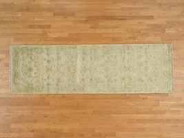 3'2''x10'3'' Hand Knotted Pure Wool Oushak Oriental Runner Rug G38565 - $482.13