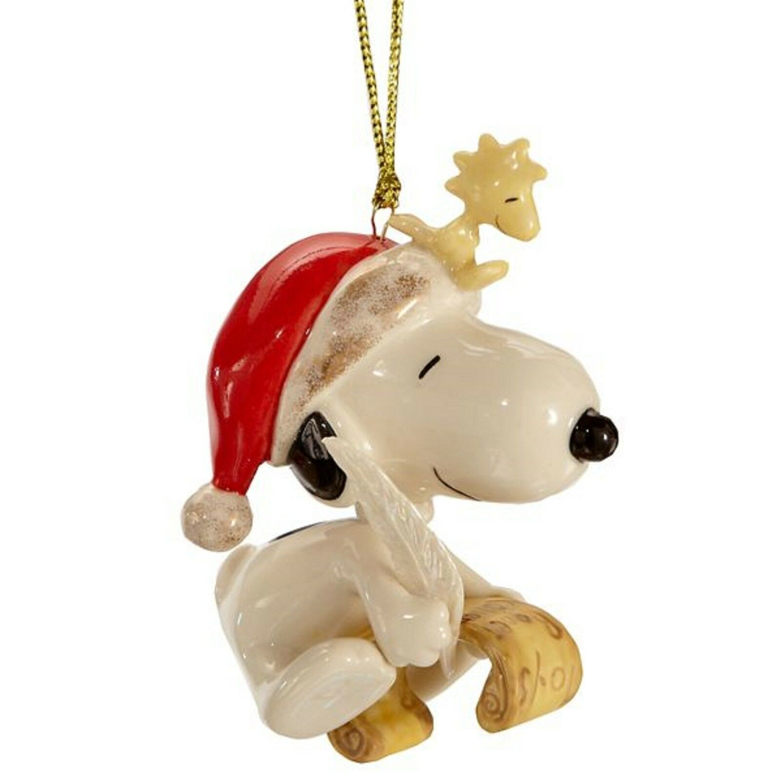 Lenox Snoopy's List For Santa Ornament Peanuts Woodstock Christmas Gift NEW