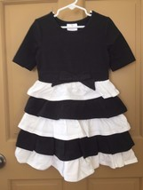 NWT Hanna Andersson Girls Skater Dress With Ruffle Skirt Size 5 (110 cm) - $29.99