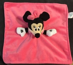 Disney Baby Minnie Mouse Pink Security Blanket 12 x 12 Lovey Plush Blanket - $13.85
