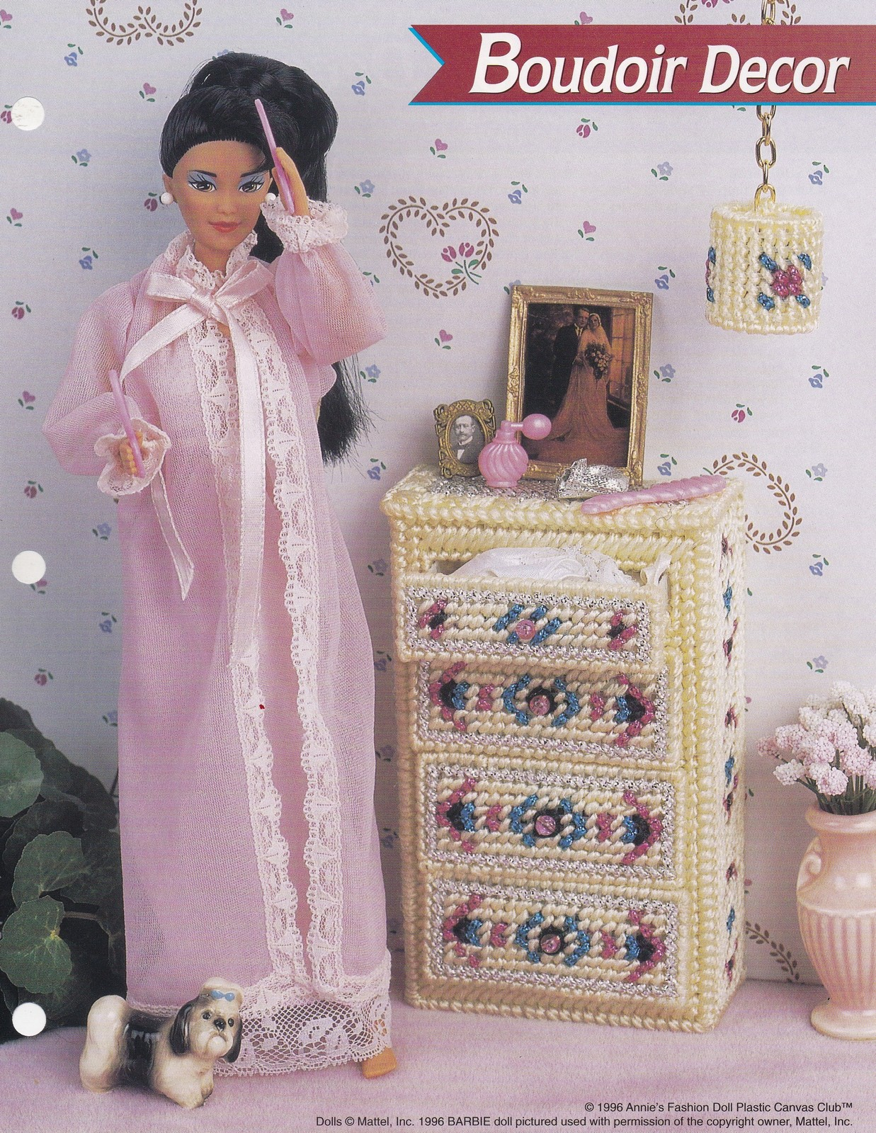Primary image for Boudoir Décor, Annie's Fashion Doll Plastic Canvas Pattern Club Leaflet FP15-03