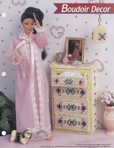 Boudoir Décor, Annie's Fashion Doll Plastic Canvas Pattern Club Leaflet ... - $1.95