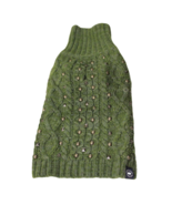 American Beagle Outfitters Forest Green Studded Turtleneck Dog Sweater, ... - $12.38