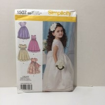 Simplicity 1507 Size 4-8 Girls' Special Occasion Dress with Trim Variations - $11.64
