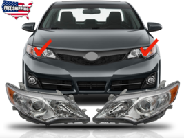 Fit For 2012 2013 2014 Toyota Camry Headlights Headlamps Chrome Housing ... - $186.99