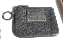 Rebecca Minkoff Cory arrow pouch in black pebbled leather - $19.00