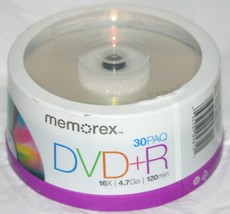 Memorex by Imation Recordable DVD+R - 16x 4.7GB - 30 Pack / Spindle 30 D... - $16.10