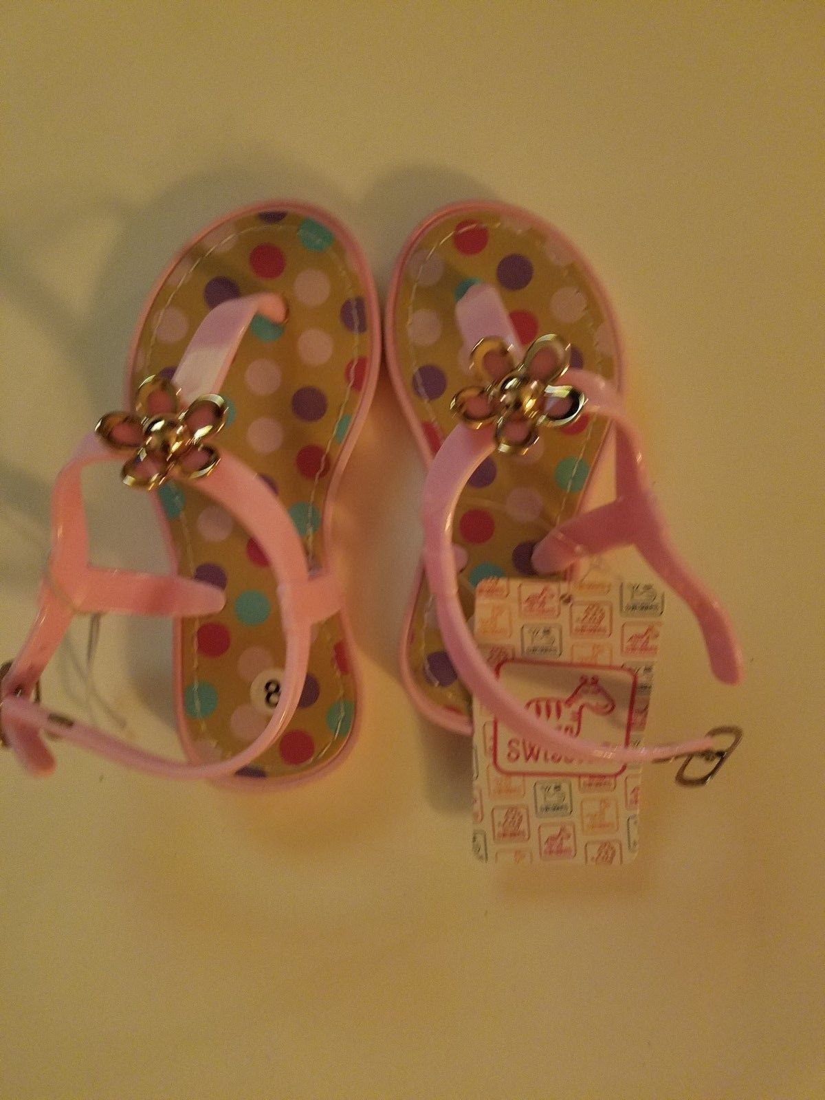 Swiggles girls toddler flower pink sandals and 50 similar items swiggles girls toddler flower pink sandals shoes sizes 6 8 10 nwt mightylinksfo