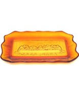 """Vintage Tiara Amber Indiana Glass """"The Last Supper"""" Bread Plate Platter ... - $44.99"""