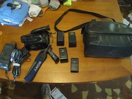 Sony video Hi8 handycam untested parts original bag ACV16 charger remote... - $49.47