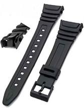 Watch Strap Flexible Black Resin to fit Casio W96 W-96H W96H 577EA1 - $10.99