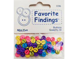 Blumenthal Lansing Favorite Findings Mini Fun Buttons,  #1196, 75 Count