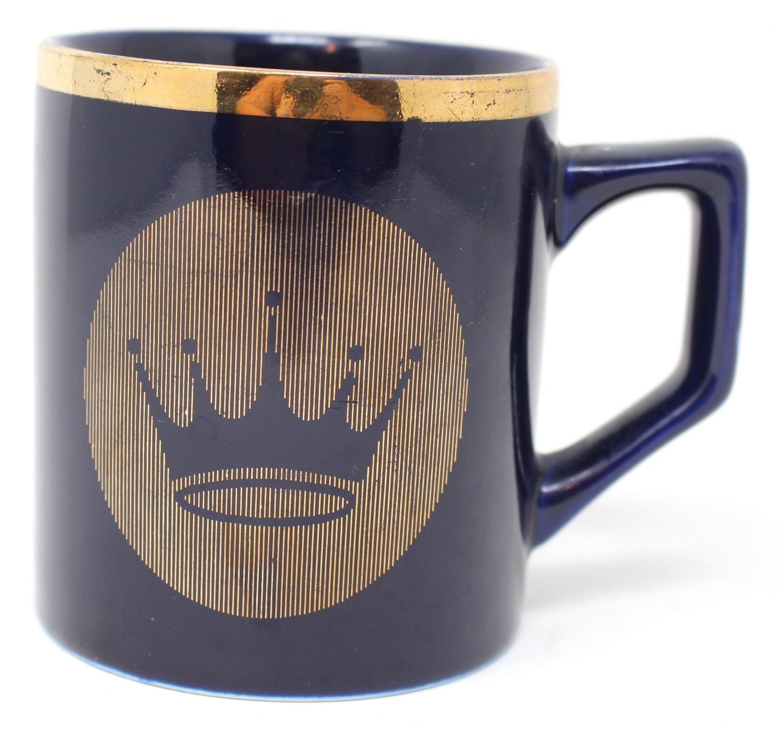 Primary image for Hallmark Blue Coffee Mug Cup Gold Crown Thanks For Your Involvement GSA IV RARE