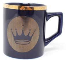 Hallmark Blue Coffee Mug Cup Gold Crown Thanks For Your Involvement GSA IV RARE - $26.42