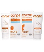 Carpe Antiperspirant Hand and Foot Lotion Package Deal 1 Hand and 1 Foot... - $24.91